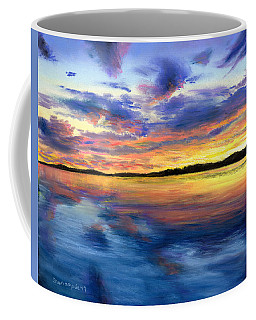 Sunset On Snow Pond Coffee Mug