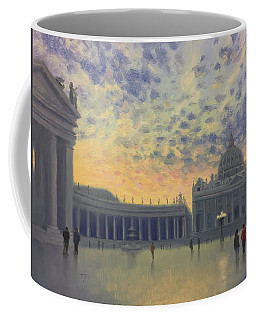 Sunset On St. Peter's Square Coffee Mug