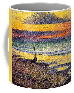 Sunset On The Beach 1891 Coffee Mug