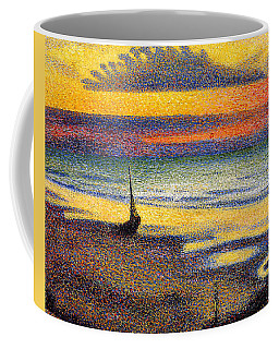 Sunset On The Beach 1891 Coffee Mug