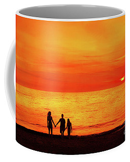 Coffee Mug featuring the digital art Sunset On The Beach by Randy Steele