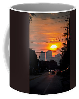 Coffee Mug featuring the photograph Sunset On The City by Carolyn Marshall