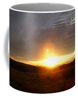 Sunset On The Field Coffee Mug