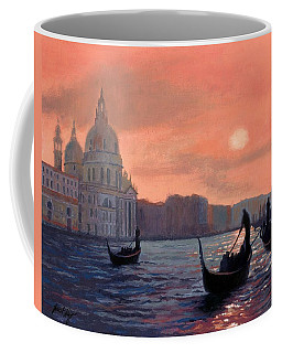 Sunset On The Grand Canal In Venice Coffee Mug