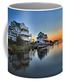 Sunset On The Obx Sound Coffee Mug