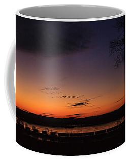 Sunset On The River Coffee Mug