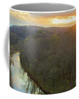 Sunset On The River Coffee Mug
