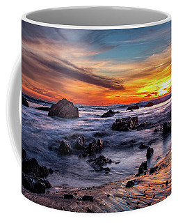 Sunset On The Rocks Coffee Mug