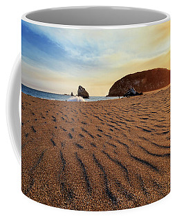 Coffee Mug featuring the photograph Sunset On The Sands Of Brookings by James Eddy