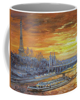 Sunset On The Seine, Paris Coffee Mug by Irek Szelag