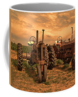 Sunset On The Tractors Coffee Mug