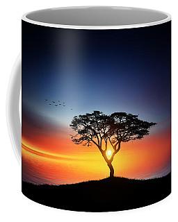 Sunset On The Tree Coffee Mug