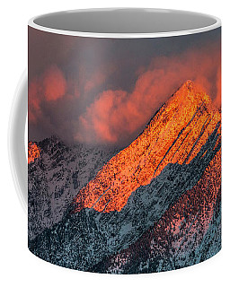 Coffee Mug featuring the photograph Sunset On The Wasatch by Spencer Baugh