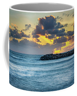 Sunset On The Water Coffee Mug