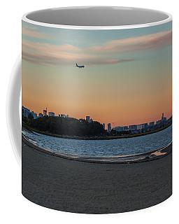 Sunset On Wollaston Beach In Quincy Massachusetts Coffee Mug