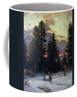 Sunset Over A Winter Landscape Coffee Mug