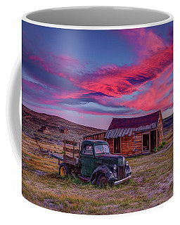 Sunset Over Bodie's Green Truck Coffee Mug
