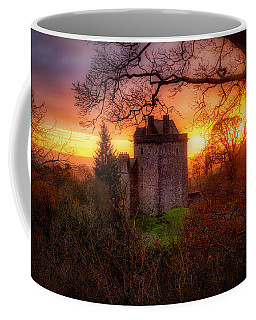 Coffee Mug featuring the photograph Sunset Over Castle Campbell In Scotland by Jeremy Lavender Photography