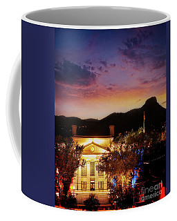 Sunset Over Courthouse Coffee Mug