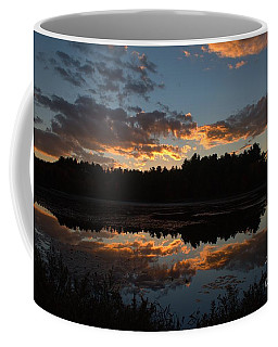 Sunset Over Cranberry Bogs Coffee Mug
