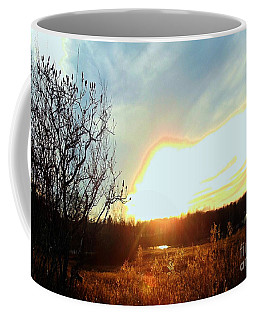 Sunset Over Fields Coffee Mug