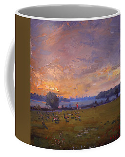 Sunset Over Gratwick Park Coffee Mug