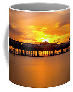 Sunset Over Herne Bay Pier Coffee Mug
