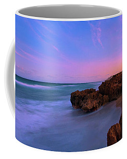 Sunset Over House Of Refuge Beach On Hutchinson Island Florida Coffee Mug