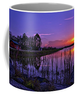 Coffee Mug featuring the photograph Sunset Over Hungryland Wildlife Management Area by Justin Kelefas