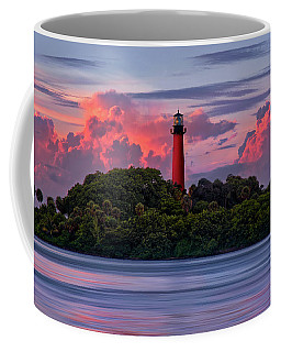 Coffee Mug featuring the photograph Sunset Over Jupiter Lighthouse, Florida by Justin Kelefas