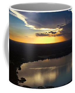 Coffee Mug featuring the photograph Sunset Over Lake by Carolyn Marshall