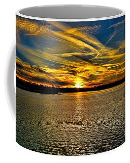 Sunset Over Lake Palestine Coffee Mug