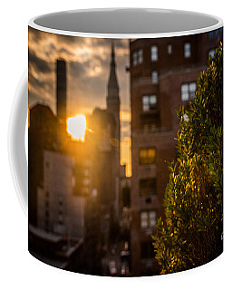 Sunset Over Manhattan New York City Coffee Mug