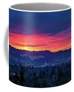 Sunset Over Marquam Hill Coffee Mug