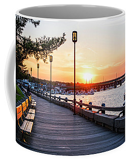 Sunset Over Newburyport Ma Merrimack River Newburyport Turnpike Coffee Mug