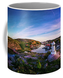 Sunset Over Old Fishing Port - Aerial Photography Coffee Mug
