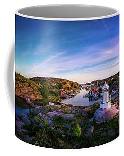 Sunset Over Old Fishing Port - Aerial Photography Coffee Mug