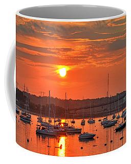 Sunset Over Salem Harbor Salem Beverly Bridge 2 Coffee Mug