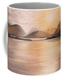 Sunset Over Scottish Loch Coffee Mug