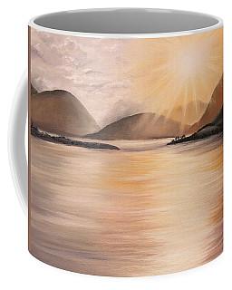 Sunset Over Scottish Loch Coffee Mug