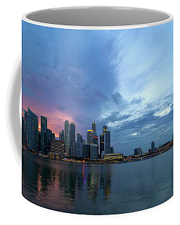 Sunset  Over Singapore Modern Skyline Coffee Mug