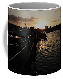 Sunset Over Sutton Harbour Plymouth Coffee Mug