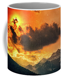 Coffee Mug featuring the photograph Sunset Over The Alps by Silvia Ganora