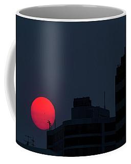 Sunset Over The City Of Portland Oregon Coffee Mug