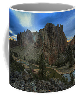 Sunset Over The Crooked River Coffee Mug