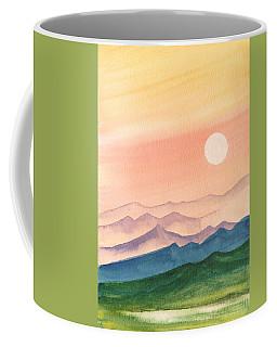 Sunset Over The Hills Coffee Mug