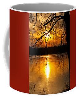 Sunset Over The Lake Coffee Mug