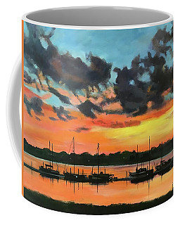 Sunset Over The Marina Coffee Mug