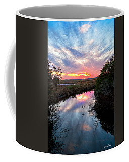 Sunset Over The Marsh Coffee Mug