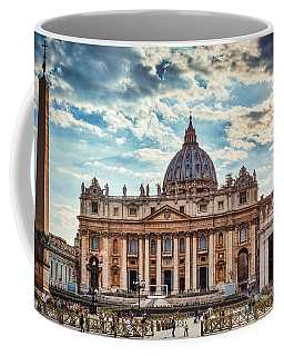 Sunset Over The Papal Basilica Of Saint Peter Coffee Mug